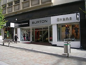 Burton (retailer) - A branch of Burton combined with Dorothy Perkins and Evans in Bradford
