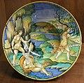C.sf., urbino, pittore di marsia di milano, tondino con apollo e dafne, 1525-1535 circa.JPG