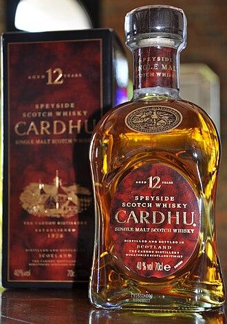 Cardhu distillery - Image: CARDHU Bottle and Box