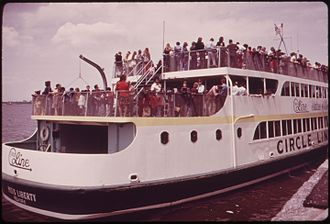Circle Line Sightseeing Cruises - Circle Line cruise, 1973. Photo by Arthur Tress.