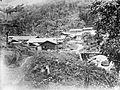 COLLECTIE TROPENMUSEUM Voorlopig kampement voor het personeel der ontginning aan de Selikarivier TMnr 10007006.jpg