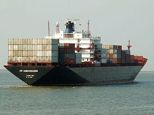 CP Ambassador aft, IMO 8501426 at Port of Antwerp, Belgium 12-Oct-2005.jpg