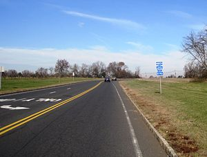 County Route 533 (New Jersey) - Looking north along Somerset Courthouse Road signed as CR 533 Bypass