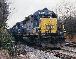 Western and Atlantic Railroad - Image: CSXT 8029