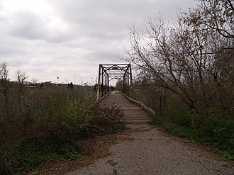 National Register of Historic Places listings in Traill County, North Dakota - Image: Caledonia Bridge 3