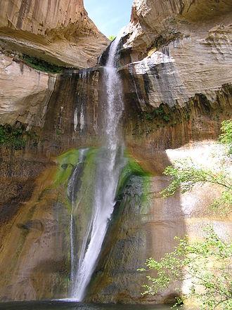 Calf Creek Falls - Lower Calf Creek Falls.