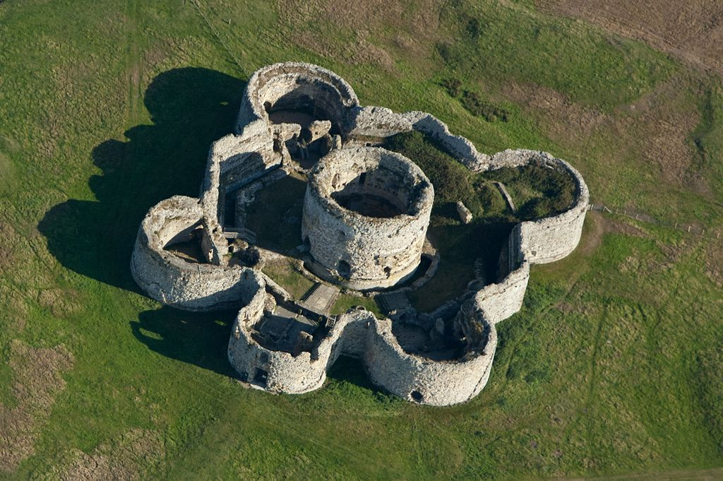 Camber Castle from the air