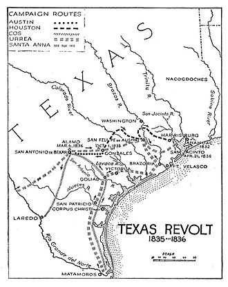 Texas Revolution - Image: Campaigns of the Texas Revolution