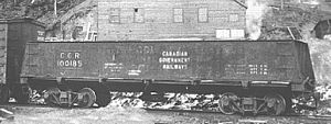 Canadian Government Railways - CGR 50-ton coal car, former Intercolonial Railway (faded paint can be seen).