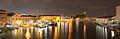 Canal Grande ovest vista notturana dal Ponte della Costituzione Venezia 2.jpg