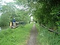 Canal boat approaching Fradley Bridge - geograph.org.uk - 432585.jpg