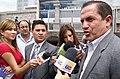 Canciller Patiño da declaraciones a la prensa al salir de la Cumbre de Presidentes de los Parlamentos de Naciones que integran UNASUR (4700942367).jpg