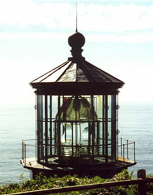 Fresnel lens - Cape Meares Lighthouse; first-order Fresnel lens