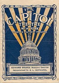 Capitol Theatre New York City Wikipedia