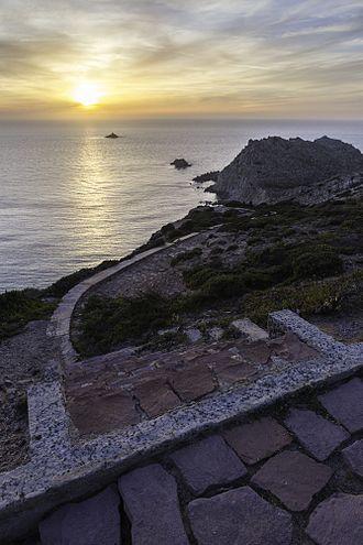San Pietro Island - Caposandalo ovest in San Pietro Island
