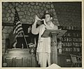 Captain Joseph H. Freedman Hq, USAFIME, is shown blowing the Shofar (7984023446).jpg
