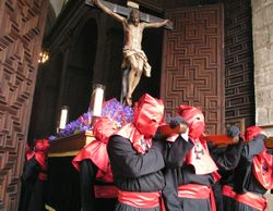 The distinctive cloaks and hoods of the Easter Holy Week processions.