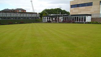 Cardiff Arms Park - The clubhouse and bowling green