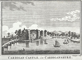 Cardigan Castle, in Cardiganshire