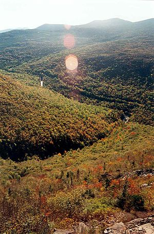 Mount Redington - Image: Caribou Valley road and Mt Redington