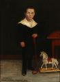 Carl Ludwig Jessen - Portræt af en lille dreng med sin legetøjshest - 1904.png