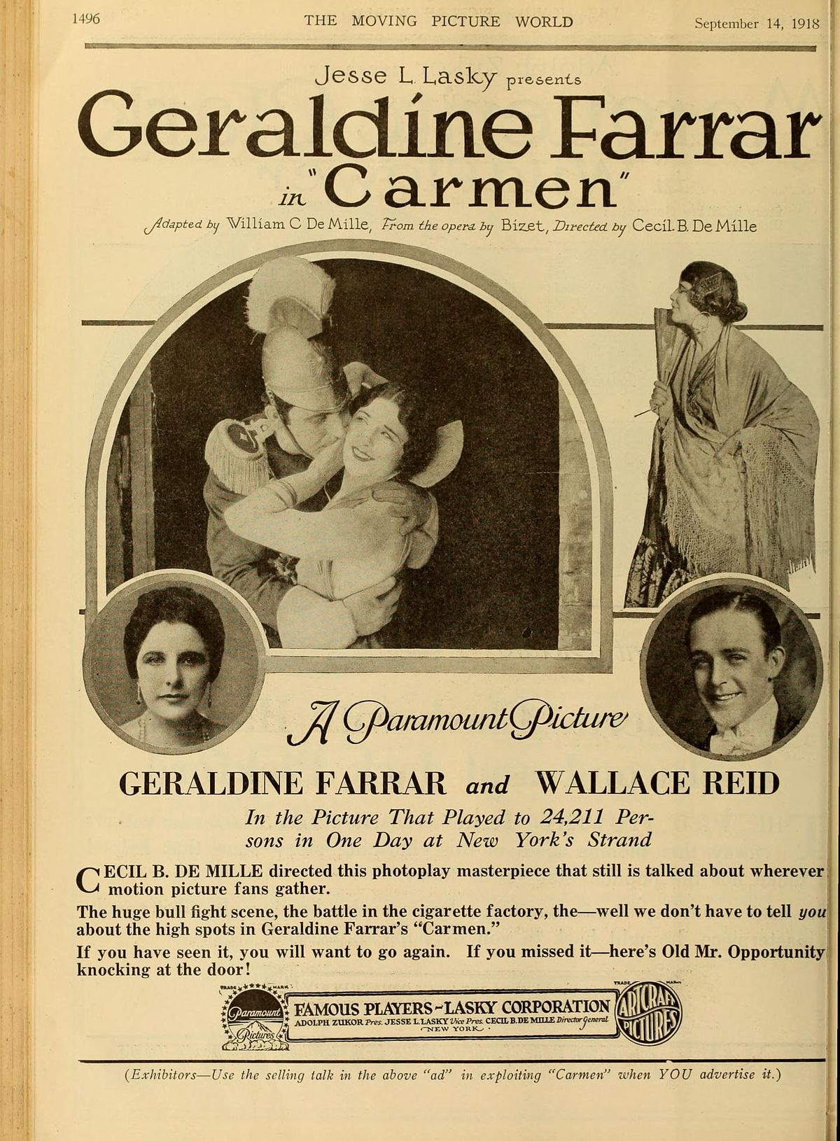 Mercedes For Sale >> Carmen (film 1915 DeMille) - Wikipedia