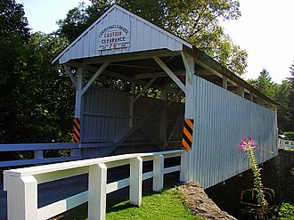National Register of Historic Places listings in Greene County, Pennsylvania - Image: Carmichaels Bridge