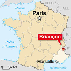 briancon carte -