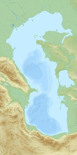 Bolshiye Peshnye Islands is located in Caspian Sea