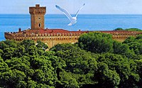 View of Castiglioncello. An artistic movement of the 19th century, called Macchiaioli, chose this village, because of its beauty, as an inspirational source for their work.