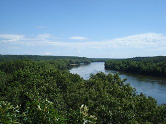Castle Rock State Park (Illinois) - View of the Rock River from Castle Rock.