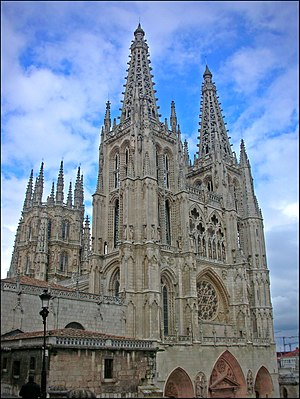 Culture of Spain - The Burgos Cathedral is a work of Spanish Gothic architecture.