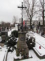 Cemetery cross in Okříšky, Třebíč District.JPG