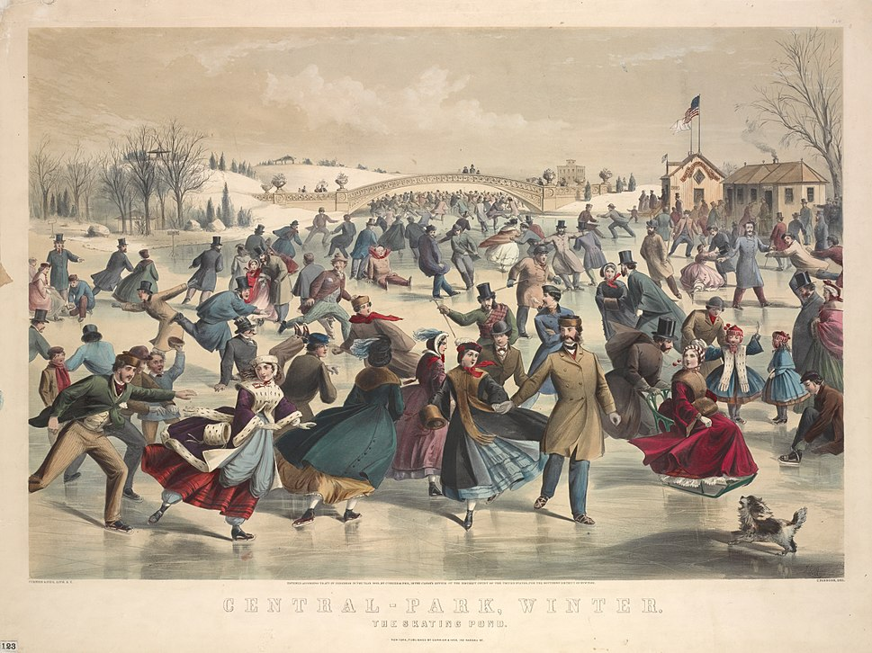 Central-Park, winter. The skating pond. New York (NYPL Hades-1803581-1659255)
