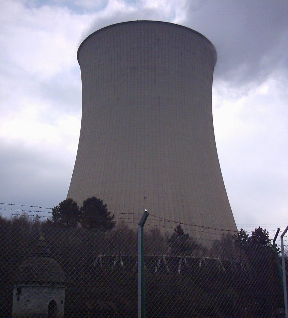Torre de refrixeración da central