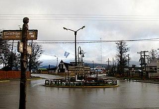 Tolhuin Town in Tierra del Fuego, Argentina