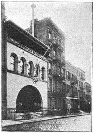 Centre Market Place - The People's Baths at 9 Centre Market Pl circa 1890s.