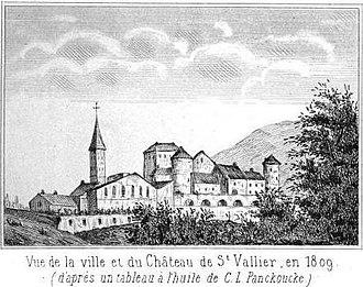 Saint-Vallier, Drôme - Image: Château de Saint Vallier (Drôme) 1809