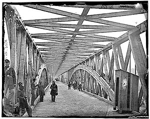 Union Army Balloon Corps - Chain Bridge as it appeared during the Civil War