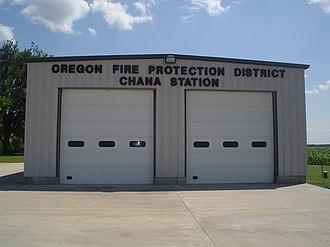 Chana, Illinois - Oregon Fire station in Chana