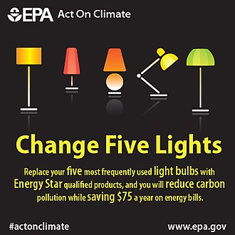 Energy Star - EPA graphic promoting light bulb replacement