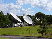 Seven Network broadcasting dishes in Epping.