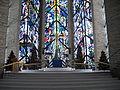 Chapel of the Resurrection, Christmas 2004 trees.JPG