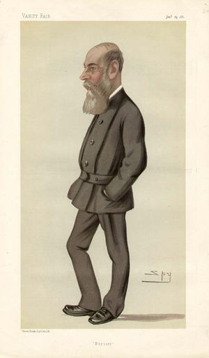 "Burgh St Peter - Caricature of Charles Boycott by ""Spy"" (Leslie Ward) for Vanity Fair in 1881"