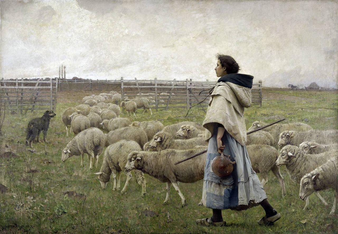 Charles Sprague Pearce - Le retour du troupeau.jpg