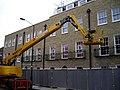 Cherry picker at new development in Grove Lane Camberwell - geograph.org.uk - 1318560.jpg