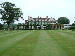 Chewton Glen - View from the croquet lawn of Chewton Glen Hotel