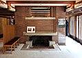 Chicago, robie house di frank lloyd wright, 1908-1910, salone al primo piano, 03.jpg
