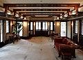Chicago, robie house di frank lloyd wright, 1908-1910, salone al primo piano, 05.jpg