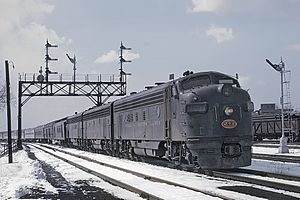 Chicago and Eastern Illinois Railroad - Chicago and Eastern Illinois train with the Hummingbird and the Georgian on March 31, 1964